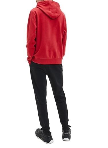 Calvin Klein  % 100 Pamuklu Kapüşonlu Kanguru Cepli Sweat Erkek Sweat K10K107033 Xk6 Kırmızı